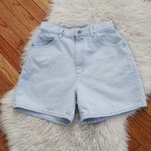 Vintage Lee High Rise Light Wash Mom Jean Shorts
